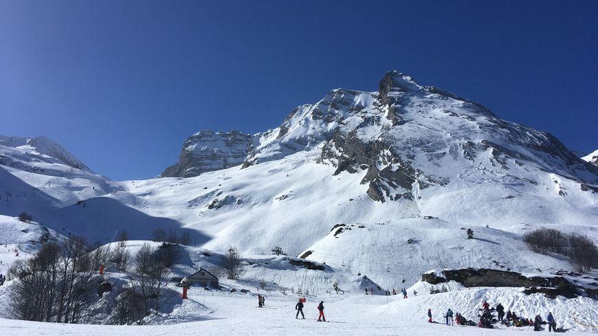 La station de ski de Gourette à Eaux-Bonnes (64) en février 2019.