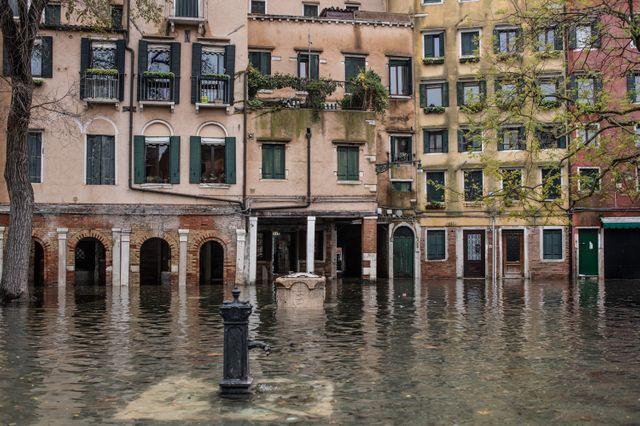 Le quartier de Cannaregio, lui aussi complètement inondé vendredi.