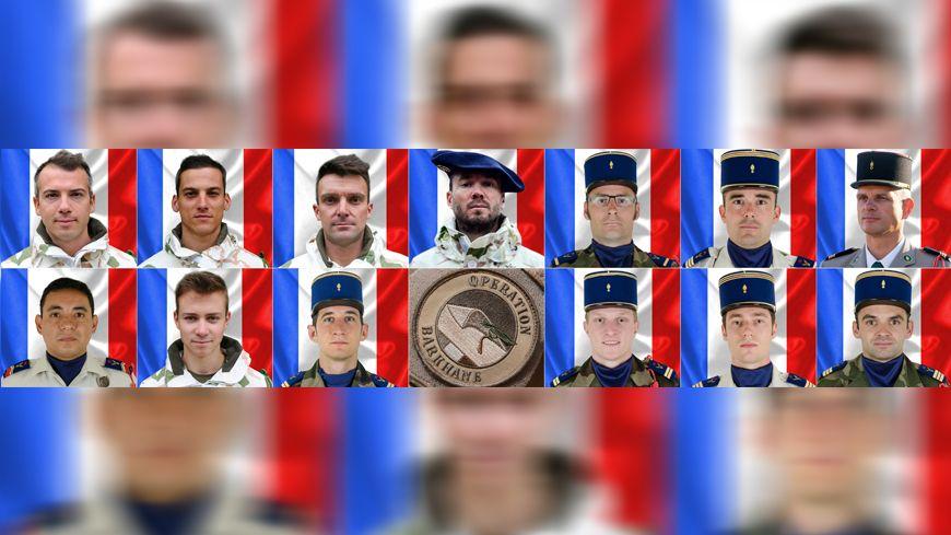 Les treize soldats français tués au Mali le 25 novembre 2019.