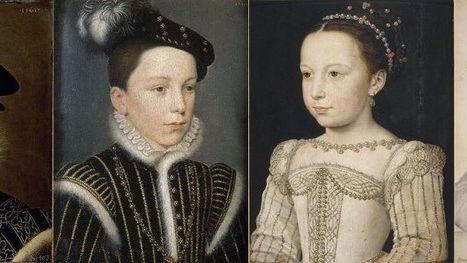 Deux des enfants de Catherine de Médicis vers 1560 par François Clouet - Henri, duc d'Orléans (futur Henri III) -  Marguerite de France (dite Margot)