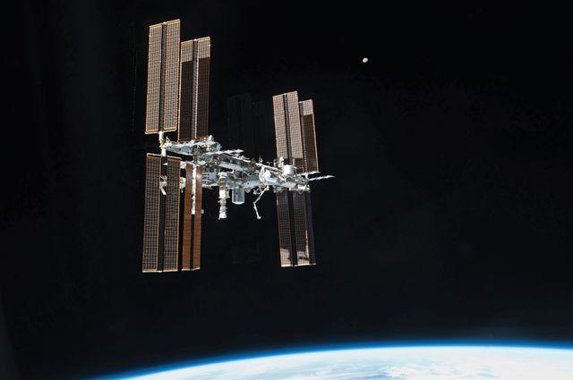 L'ISS, photographiée en juin 2019
