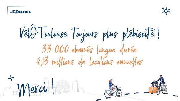 JC Decaux salue le succès de son VélÔ Toulouse