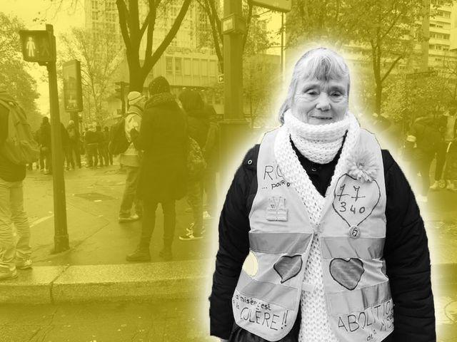 Jocelyne est venue de Pontault-Combault pour manifester à Paris.