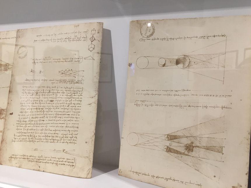 Les maquettes ont été réalisée à partir des croquis de l'inventeur italien.
