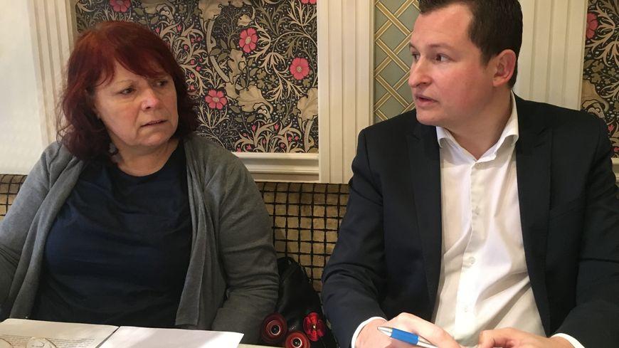 Dominique Tripet (PC) et Baptiste Chapuis (PS) ont tenu une conférence de presse ce mardi : unis, mais sans Jean-Philippe Grand (EELV)