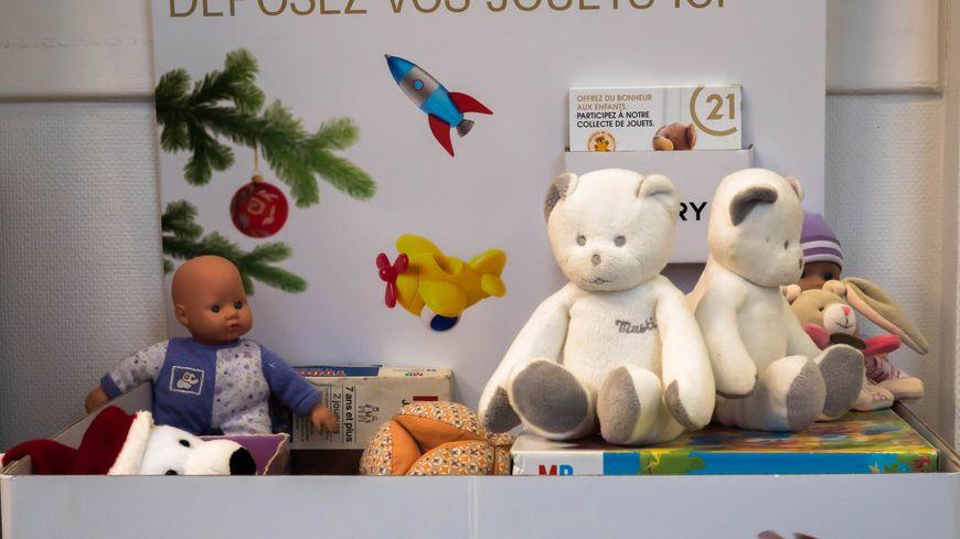 Le coffre à jouets installé à l'agence Century 21 de Mont de Marsan