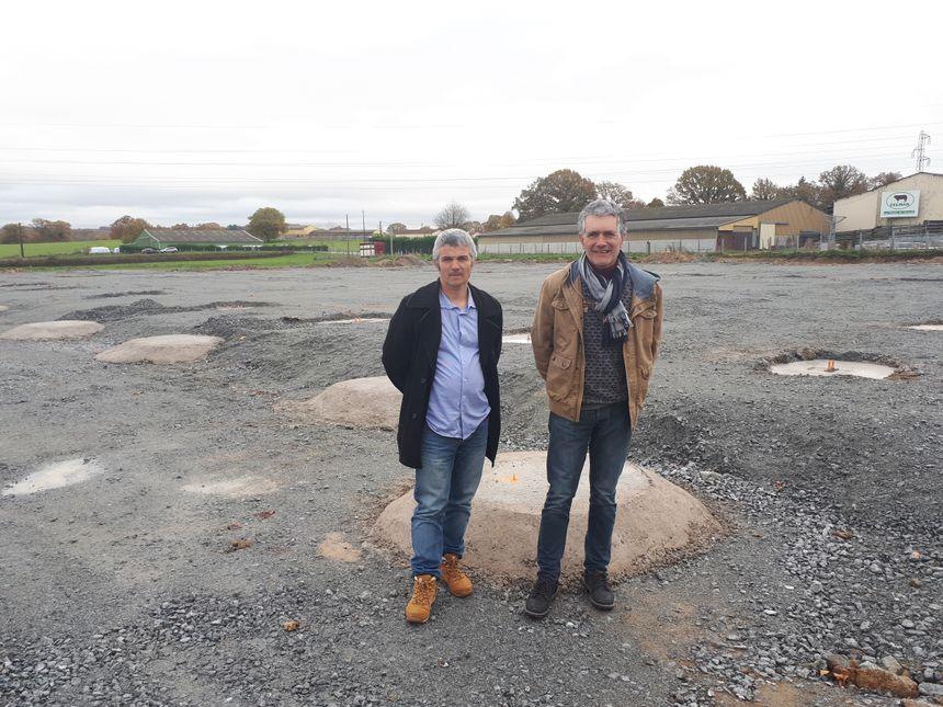 Jean-Christophe Dufour, président de la Celmar et Pascal Picaud Co-président sur le site du chantier.