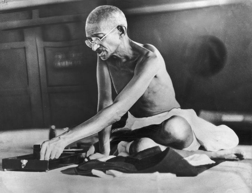 Le Mahatma Gandhi vers 1935 : l'inspirateur d'une forme d'écologie.