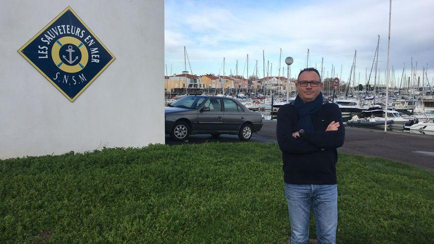 Le président de la SNSM des Sables-d'Olonne Christophe Monnereau qui doit faire sans bateau depuis deux mois et demi.