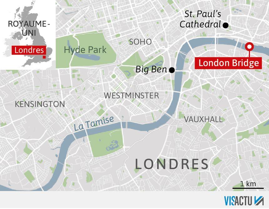 L'attaque a eu lieu près de London Bridge.