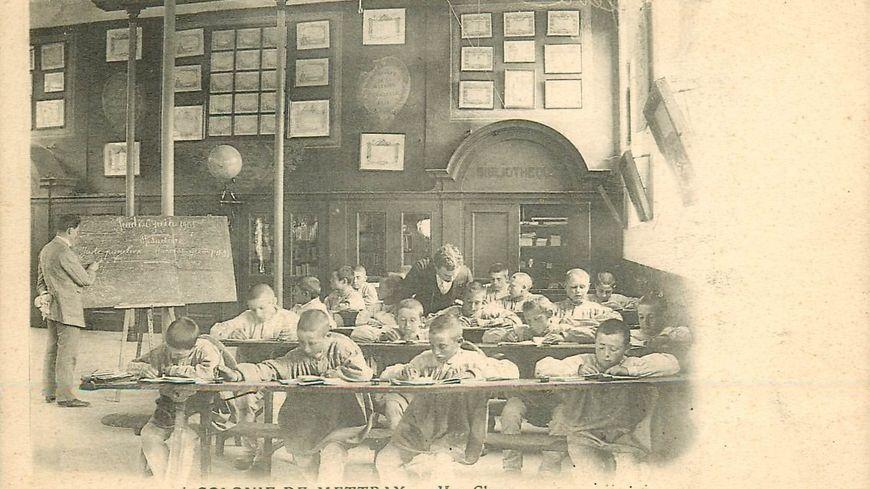 Une classe dans la colonie de Mettray.