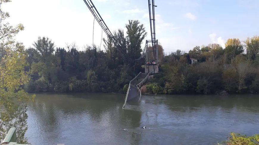 Le pont de Mirepoix-sur-Tarn s'est effondré le 18 novembre 2019