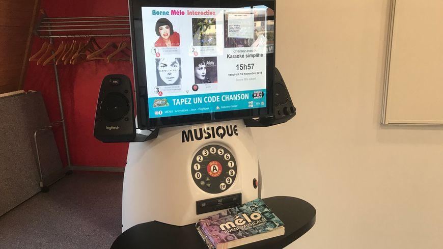 La borne musicale Mélo installée depuis novembre à l'Ehpad Surleau de Montbéliard.