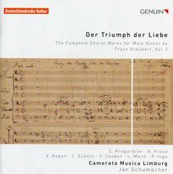 Schwertlied D 170 - pour ténor choeur d'hommes et piano - CHRISTOPH PREGARDIEN