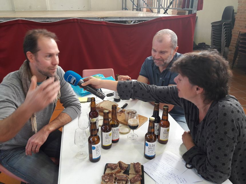 Alexis de Champoiseau pour la brasserie Jean Brasse et Pascal Lesage pour le Domaine de La Mousquère