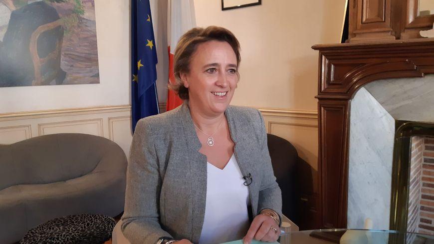 Stéphanie Guiraud-Chaumeil maire sortante d'Albi, candidate en mars.
