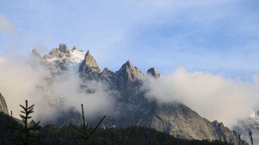L'Aiguille du Plan dans le massif du Mont-Blanc
