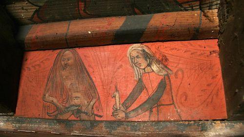 Les plafonds peints : réseaux sociaux du Moyen Âge ?