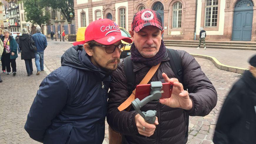 Lorànt Deutsch avait tourné la série dans les rues de Colmar le 23 octobre dernier