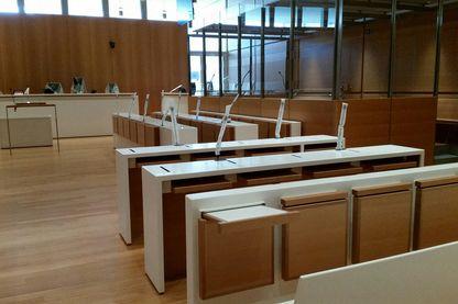 Salle d'audience du palais de justice de Paris