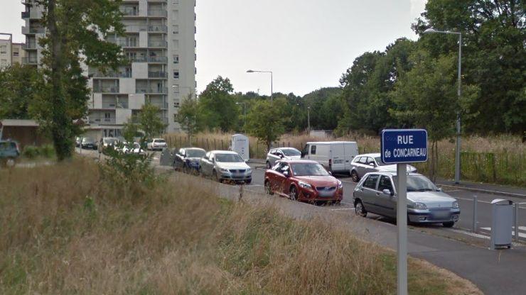 La rue de Concarneau, dans le quartier du Bout-des-Landes au nord de Nantes.
