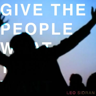 "Pochette de l'album ""Give the people what they want"" par Leo Sidran"
