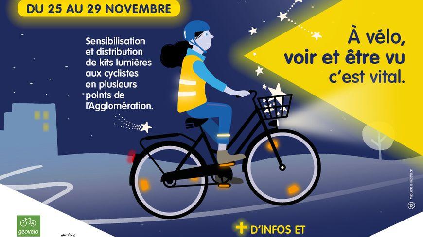 Opération Kits d'éclairage gratuits pour vélo dans l' agglomération rochelaise