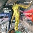Hans Werner Henze : Being beauteous et Kammermusik 1958