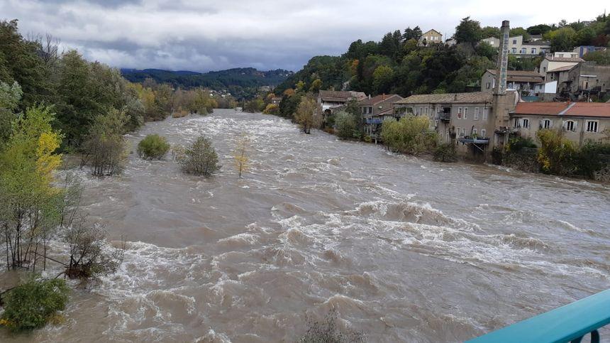 L'Ardèche ce samedi midi à Pont-d'Aubenas