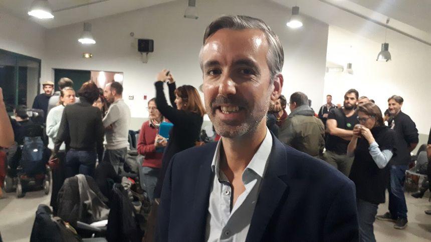 Antoine Maurice ce dimanche après son élection comme tête de liste d'Archipel Citoyen