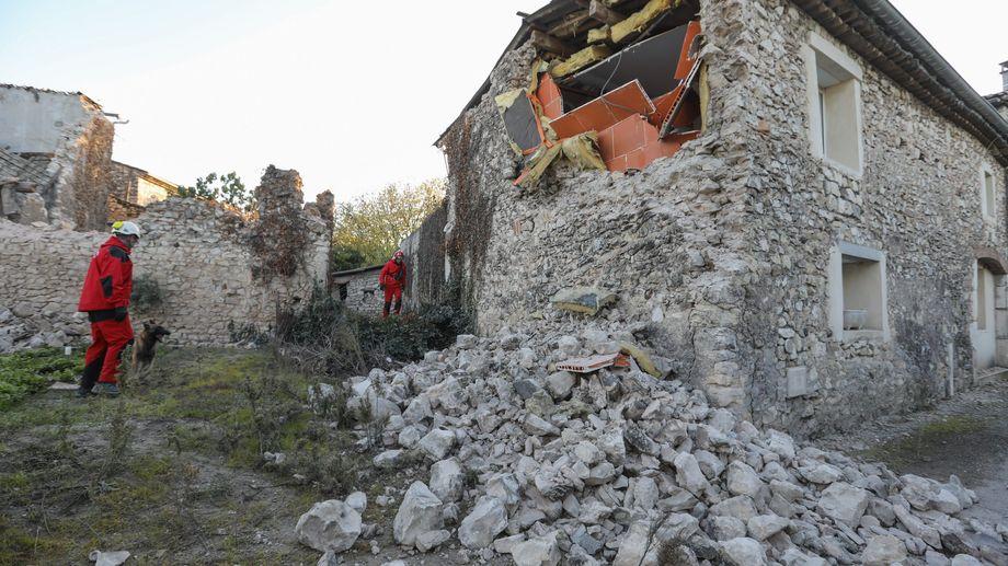 Séisme du 11 novembre 2019. Ici une maison détruite au Teil, en Ardèche.