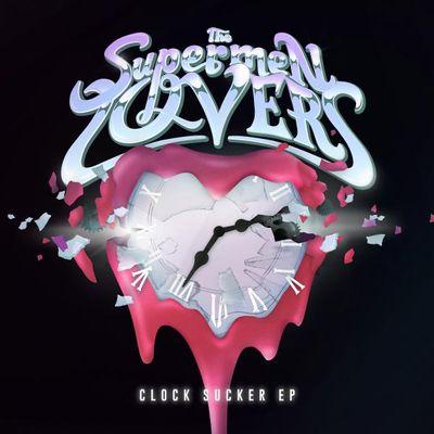 """Pochette de l'album """"Clock sucker"""" par The Supermen Lovers"""