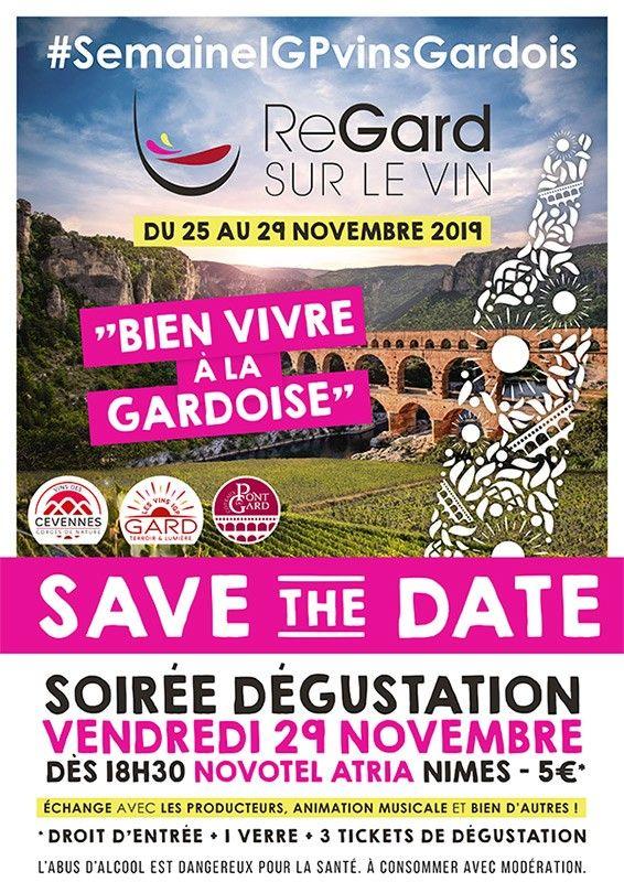 Rendez-vous le vendredi 29 novembre à partir de 18h30 pour une grande soirée de  promotion des vins IGP du Gard, au Novotel Atria Nîmes