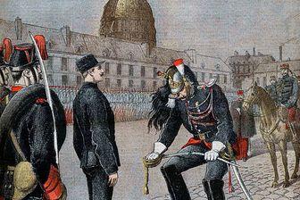 """La dégradation d'Alfred Dreyfus, couverture du """"Petit Journal, 13janvier1895"""