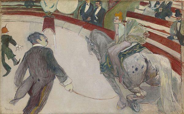 Henri de Toulouse-Lautrec Au cirque Fernando : Ecuyère 1887-1888 huile sur toile 103,2 x 161,3 cm Chicago, The Art Institute of Chicago