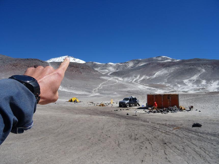 L'objectif de la mission : le Nevado Ojos Del Salado