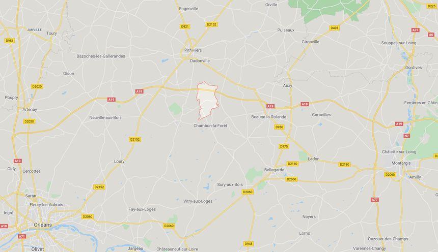 Pouilly-en-Gâtinais, dans le Loiret, à douze kilomètres au sud de Pithiviers
