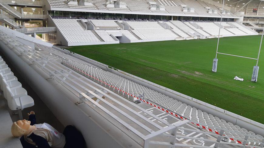 Des lycéens et des mannequins ont joué le rôle des victimes au stade de Beaublanc jeudi à Limoges
