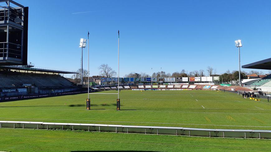 Le stade de Sapiac à Montauban, Tarn et Garonne, pro d2. Février 2019.
