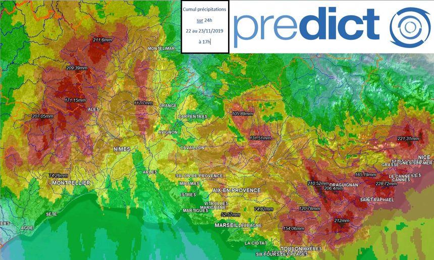 Les relevés confirment les quantités de pluie tombées