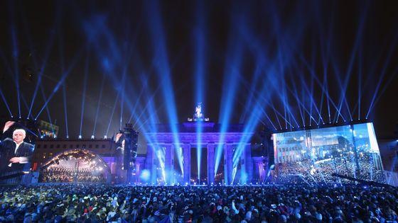 La Staatskapelle de Berlin, ss la dir de Daniel Barenboim, pendant les Célébrations du 25ème anniversaire de la chute du mur le 9 nov 2014 à Berlin, Germany