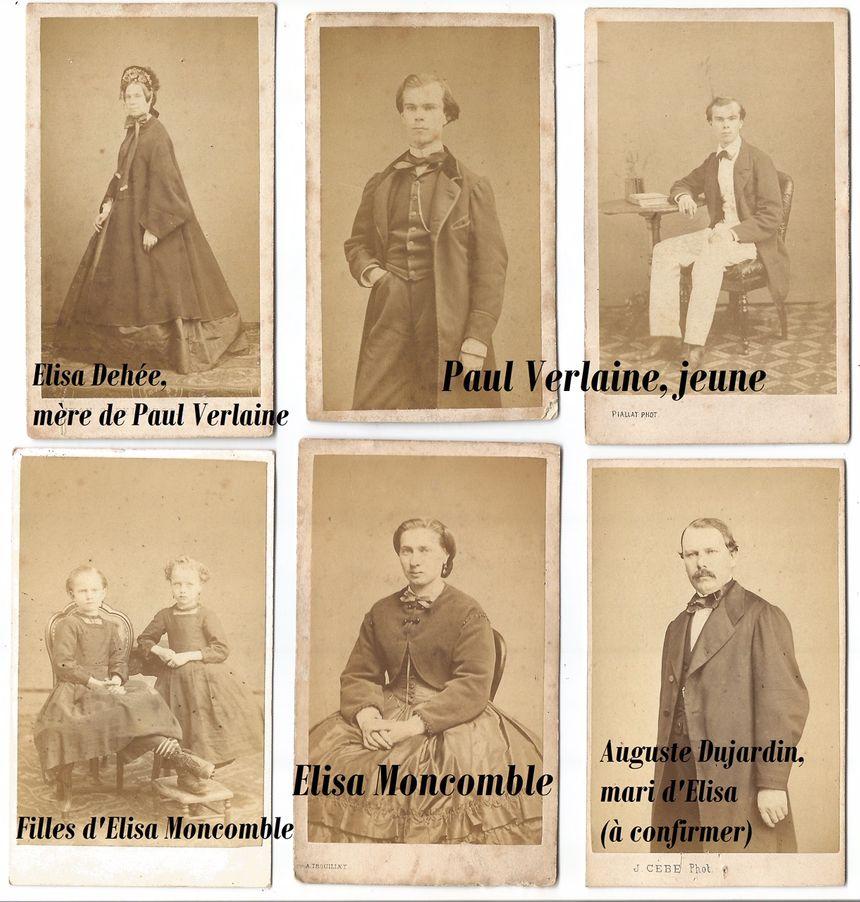 Photos issues de l'album de la famille de Paul Verlaine