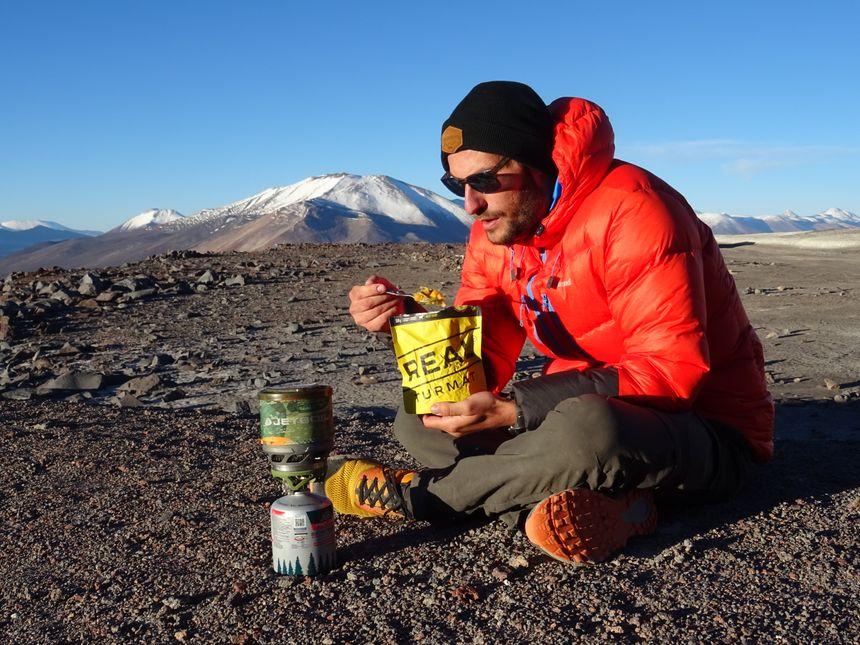 Antoine Retours n'oublie pas de s'alimenter durant l'aventure
