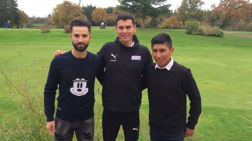 Warren Barguil entouré de Nacer Bouhanni et Nairo Quintana