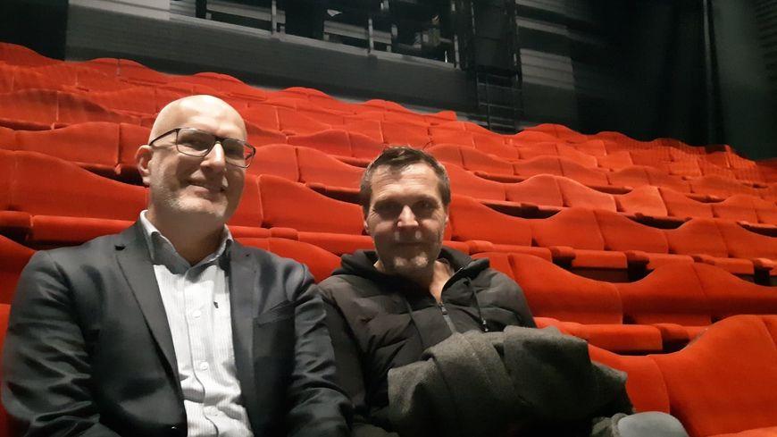 Romaric Daurier, le directeur du Phénix et Pierre Touzot l'architecte