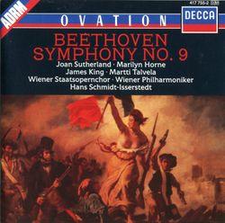 Symphonie n°9 en ré min op 125 : Presto - Allegro assai - Andante maestoso - Allegro energico - pour orchestre avec solistes et choeur final - JOAN SUTHERLAND
