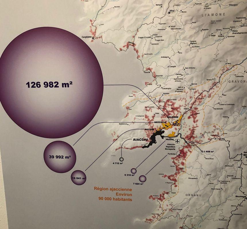 Les zones commerciales dans la région ajaccienne