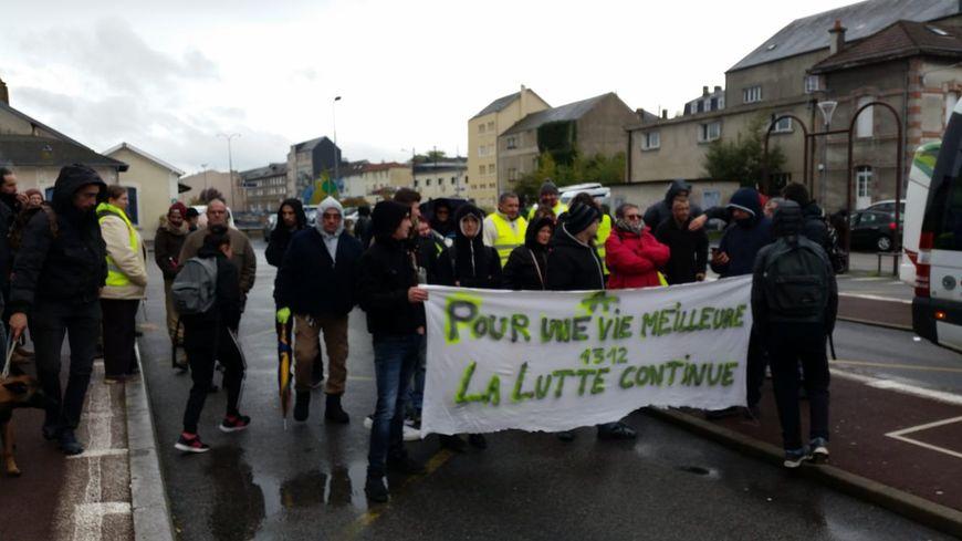 le 16 novembre 2019, une cinquantaine de gilets jaunes s'est rassemblé à Guéret pour le premier anniversaire du mouvement.