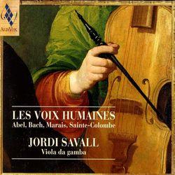 Sonates et partitas BWV 1001à 1006 : Partita en si min BWV 1002 : Sarabande - arrangement et transposition en sol min pour basse de viole - JORDI SAVALL