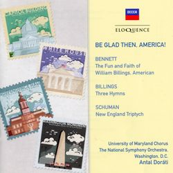 New England triptych : Be glad then America - pour orchestre